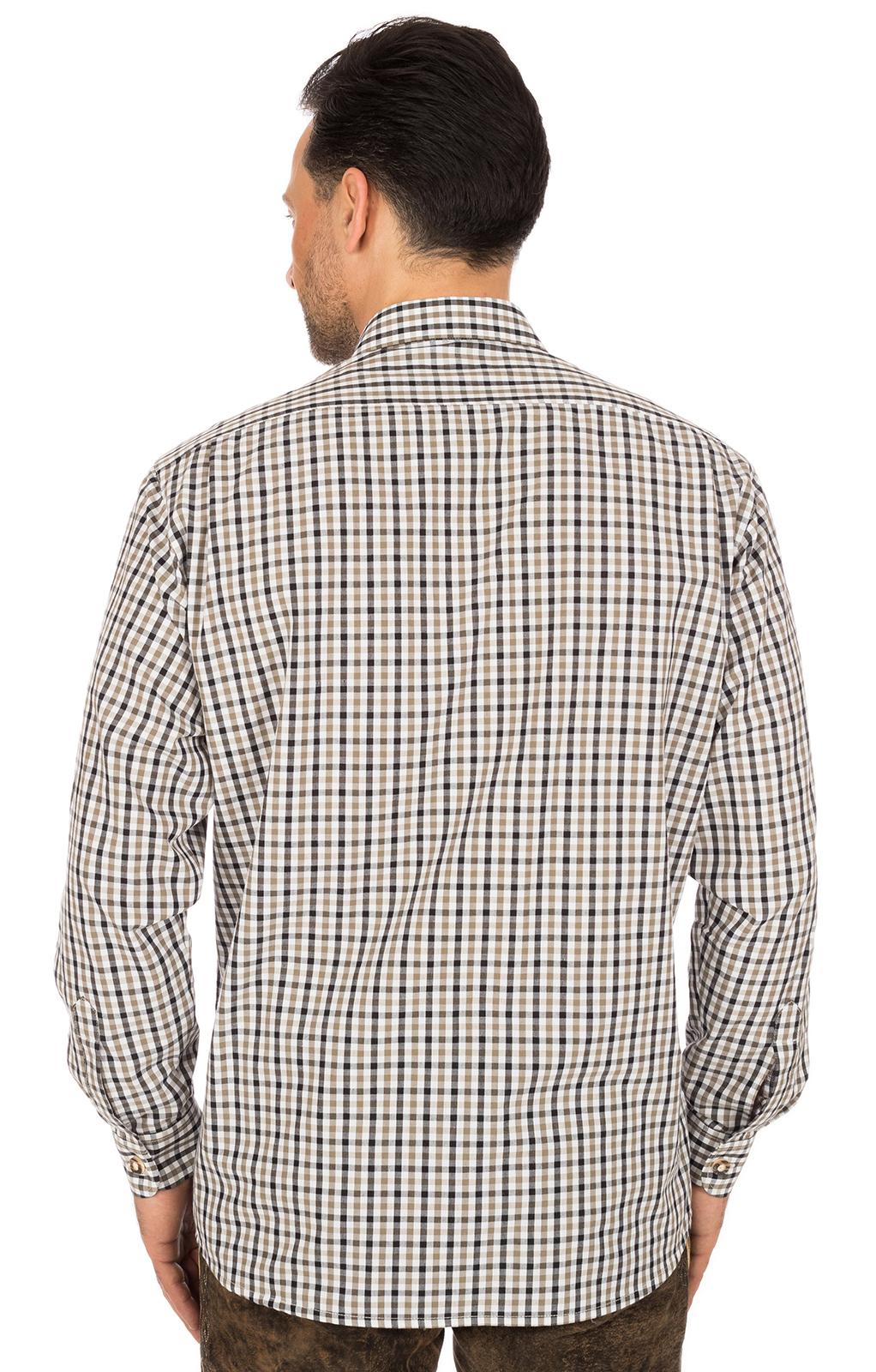 weitere Bilder von Trachtenhemd EMMERICH Krempelarm braun schwarz