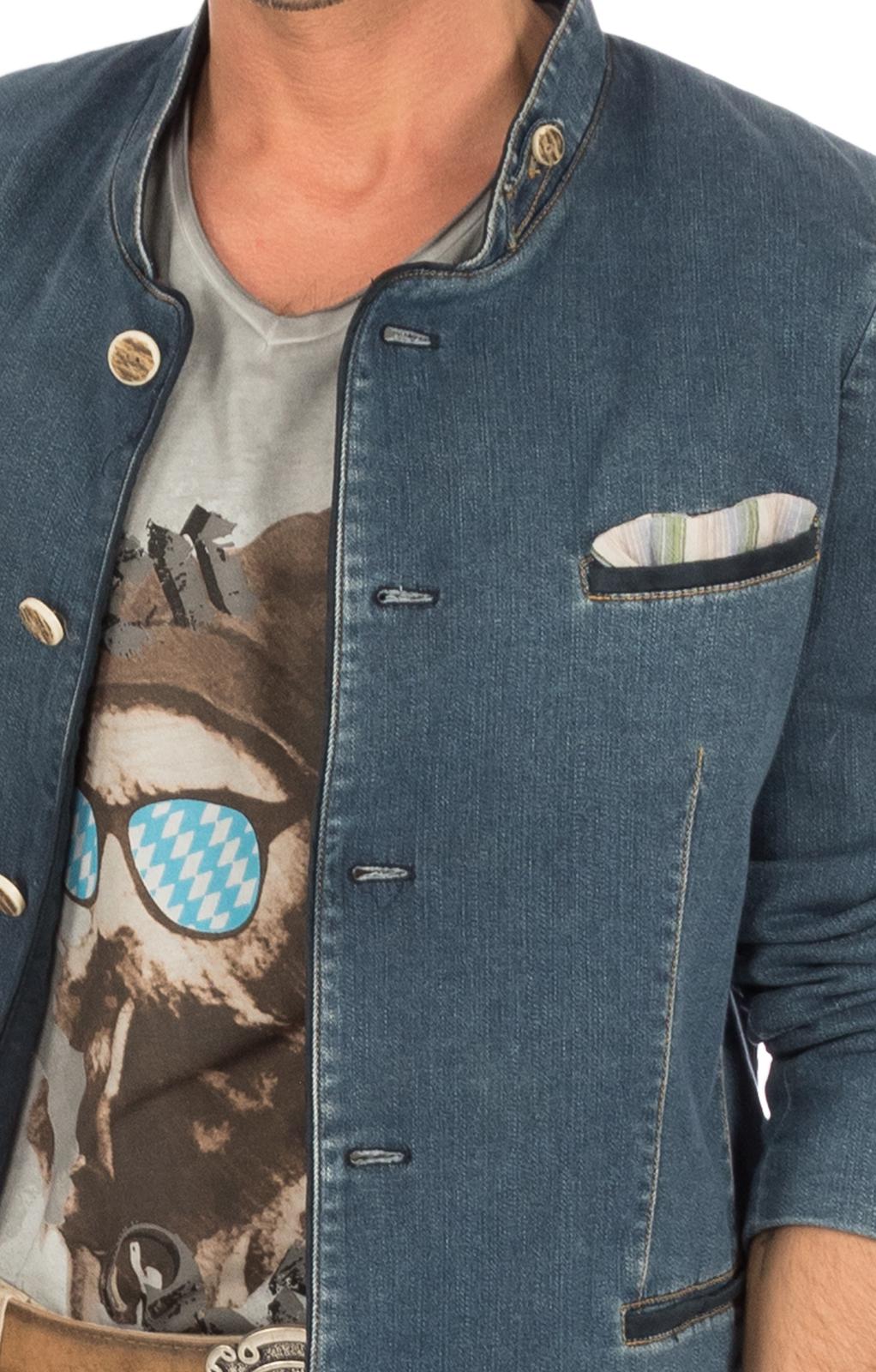 weitere Bilder von Trachtenjanker HOCHFICHT jeansblau