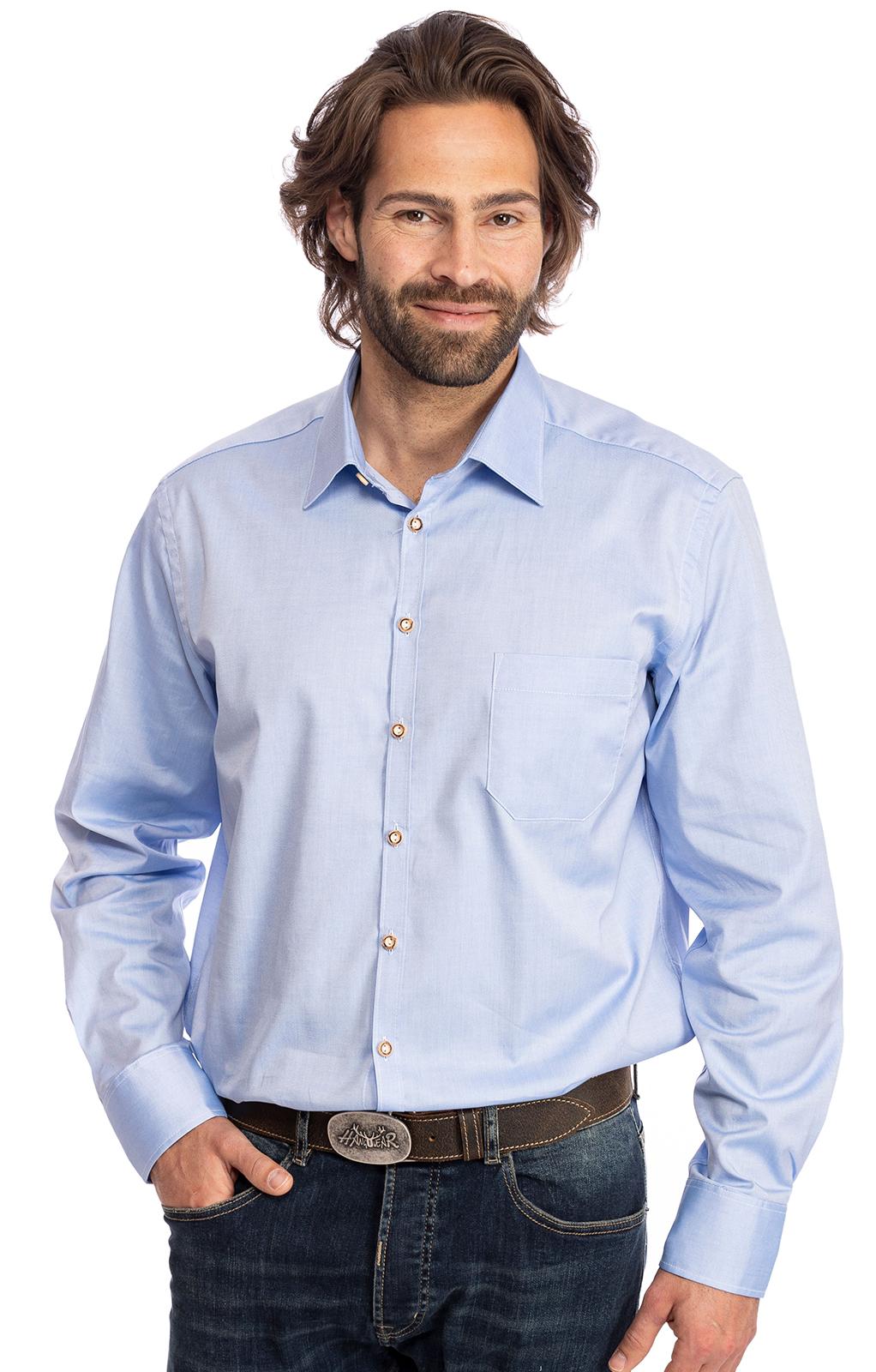 Hemd Langarm ENNO blau von OS-Trachten