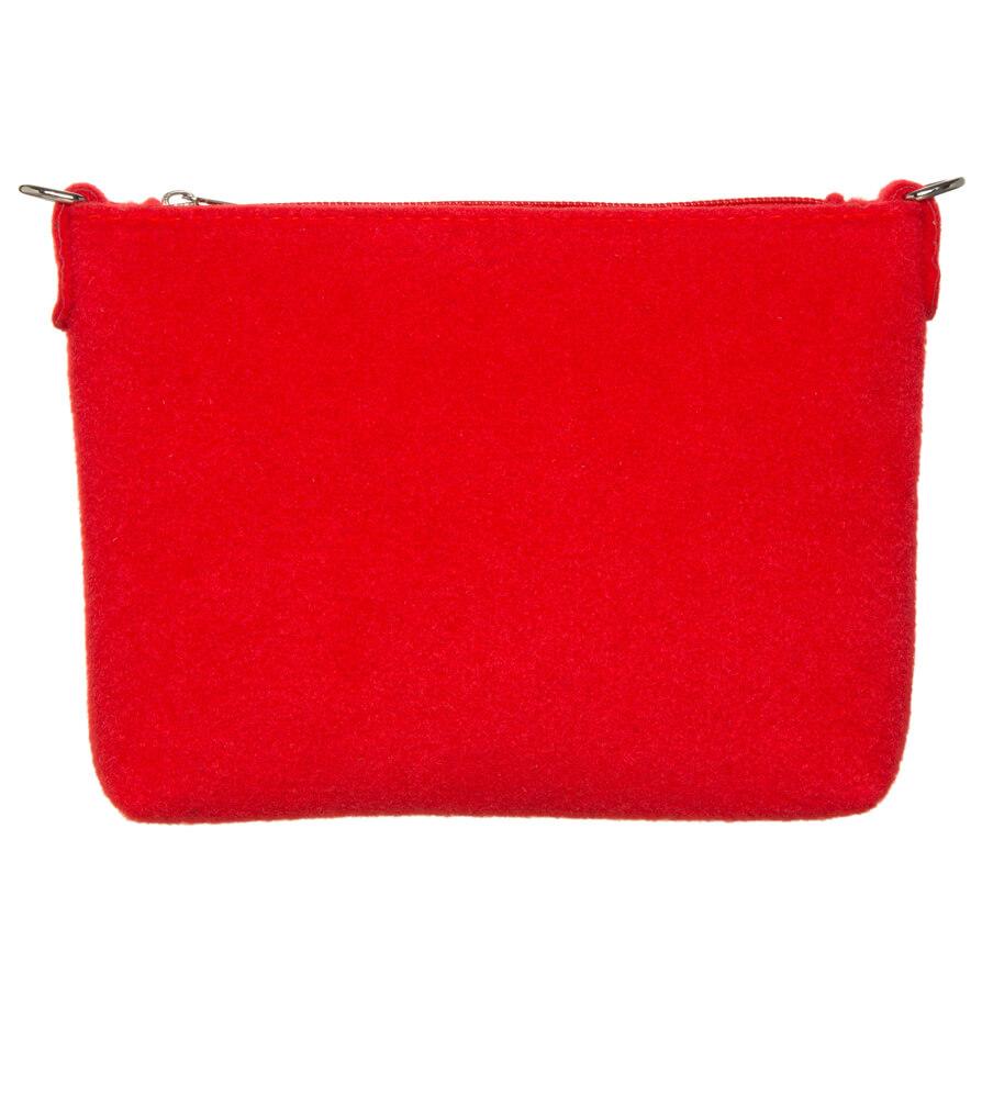 weitere Bilder von Trachten Schultertäschchen TA22590 Filzoptik Edelweiss, rot