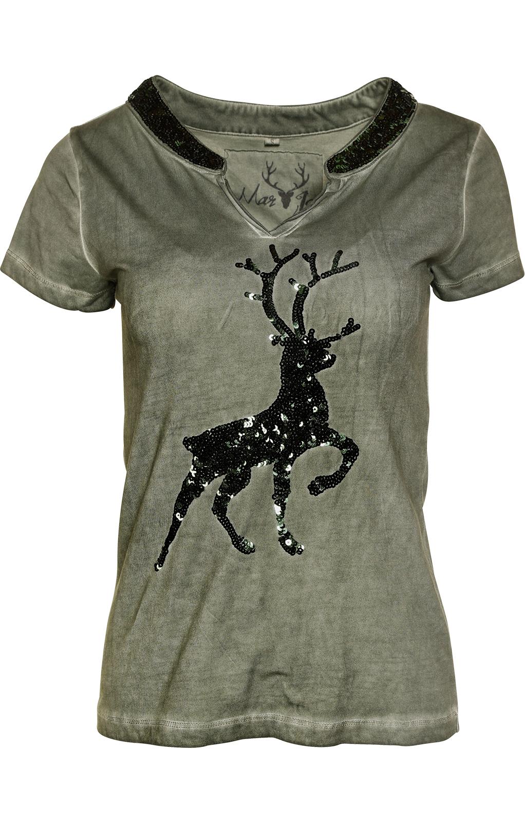 weitere Bilder von Trachten T-Shirt W04 - ROSI oliv