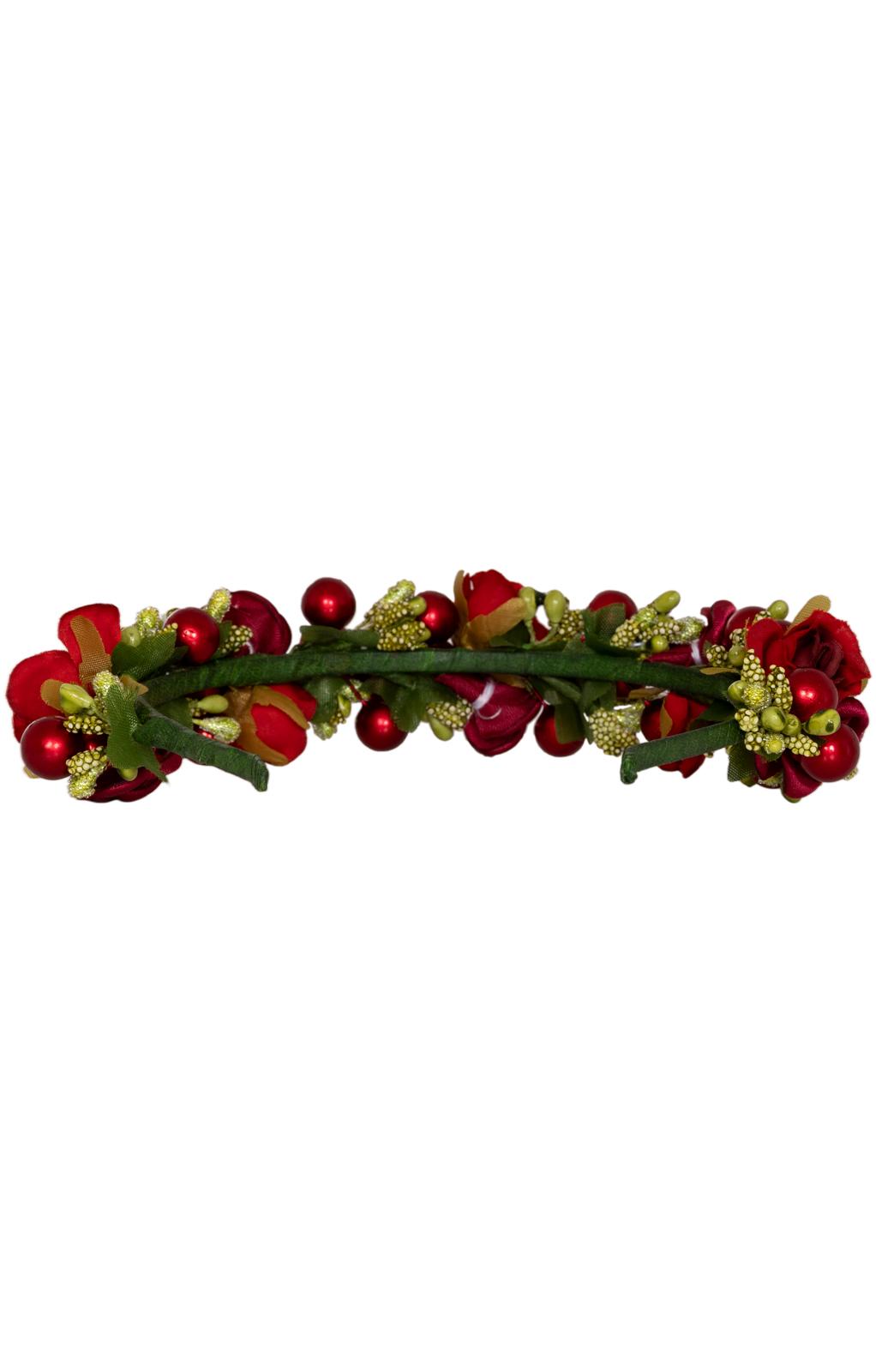 weitere Bilder von Haar- und Hutkranz KAROLINA 1040 rot grün