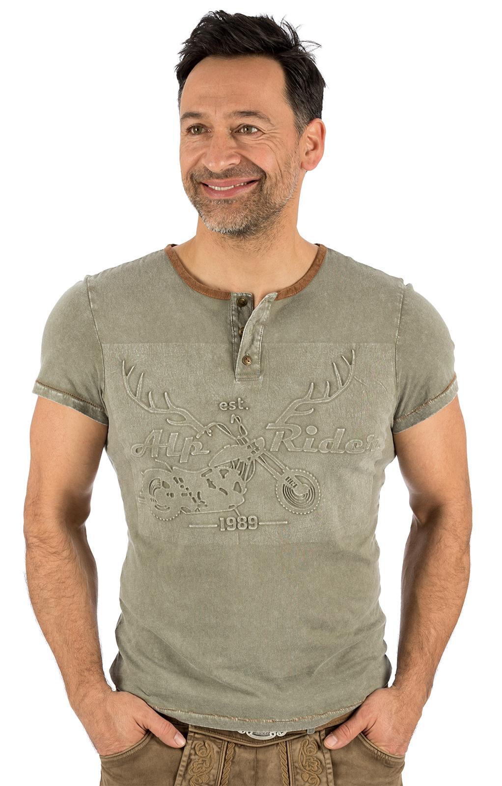 Trachten T-Shirt E12 - KARL oliv von Marjo
