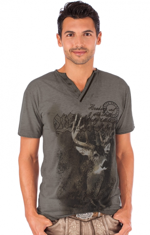 Traditional German T-Shirt Uberto brown