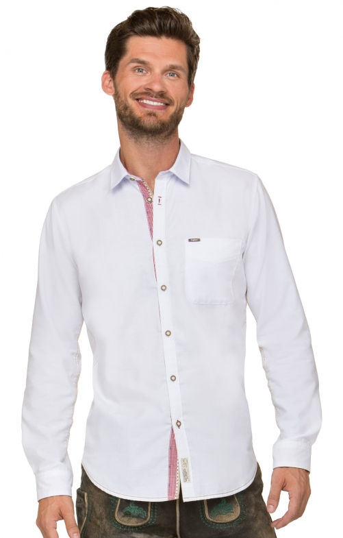 German traditional shirt long sleeve Cohen white reed