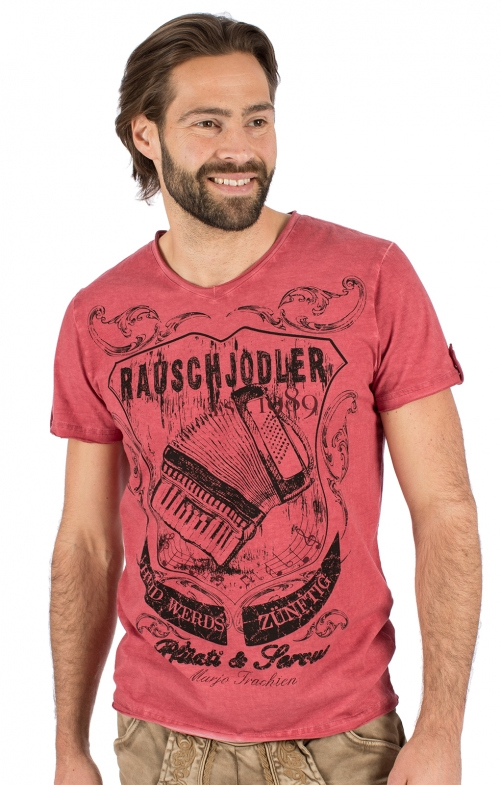 Costumes T-shirt E25 - RAUSCHJODLER red