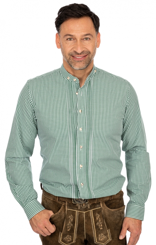 Camicia per Trachten Vestibilità 175CO verde
