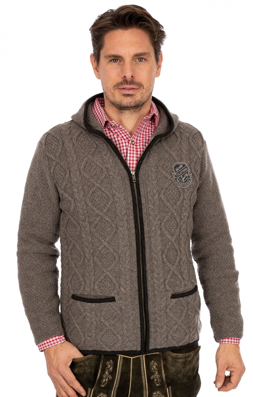 Strickjacke THORE anthrazit