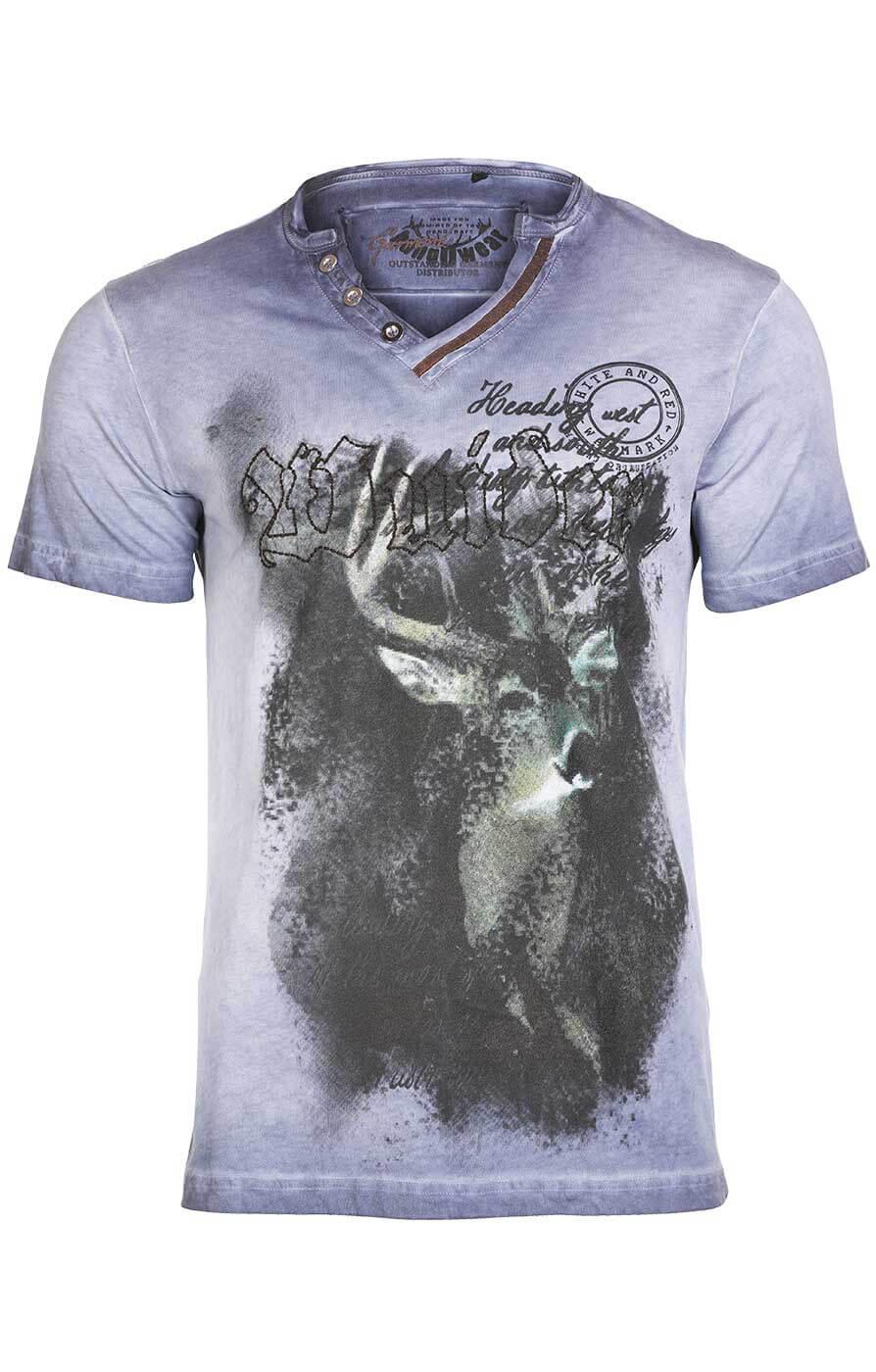 weitere Bilder von Trachtenshirt T-Shirt Uberto blau