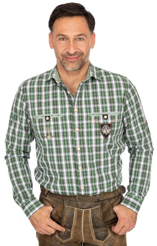 Karo Langarmhemd 420000-3784-56 grün