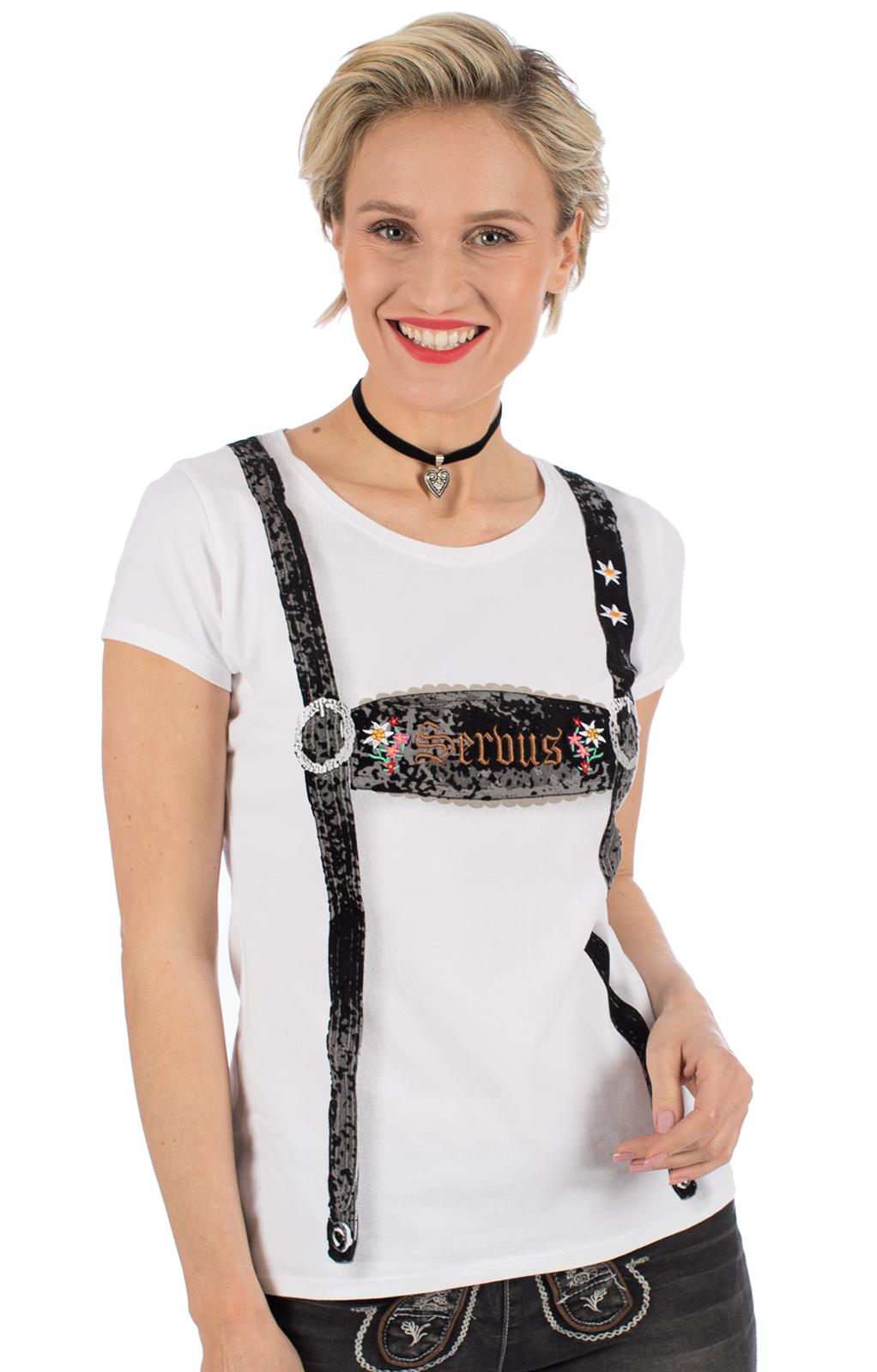 Trachten Shirt RICHARDA white von Hangowear