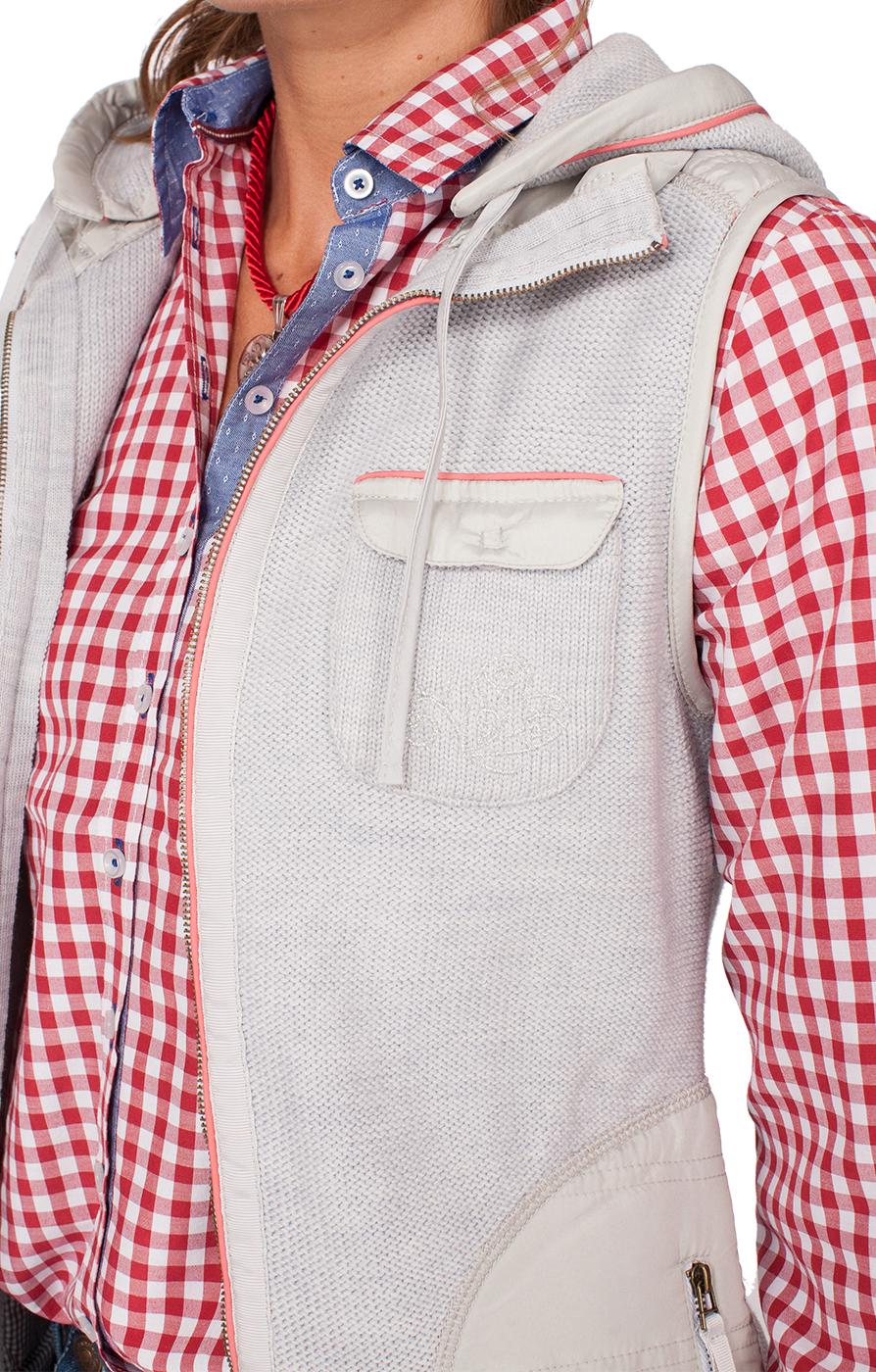 weitere Bilder von Gilet tradizionale in maglia FLINTBECK grigio-corallo