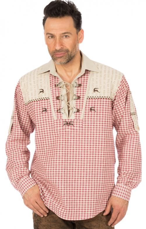German traditional shirt long sleeve MATTHES red