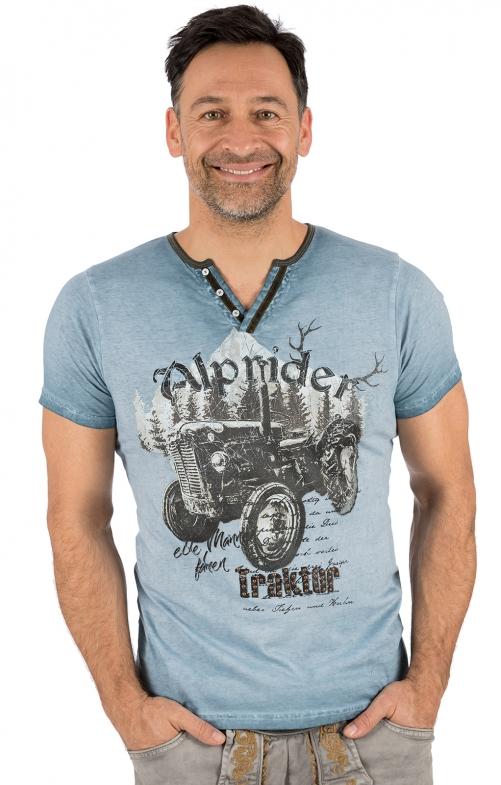 Trachten T-Shirt E15 - ALPRIDER blau