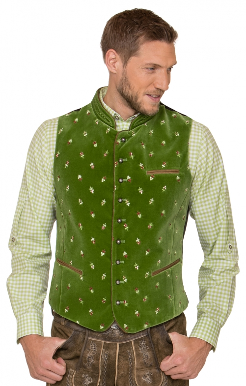Traditional waistcoat CALZADO lightgreen