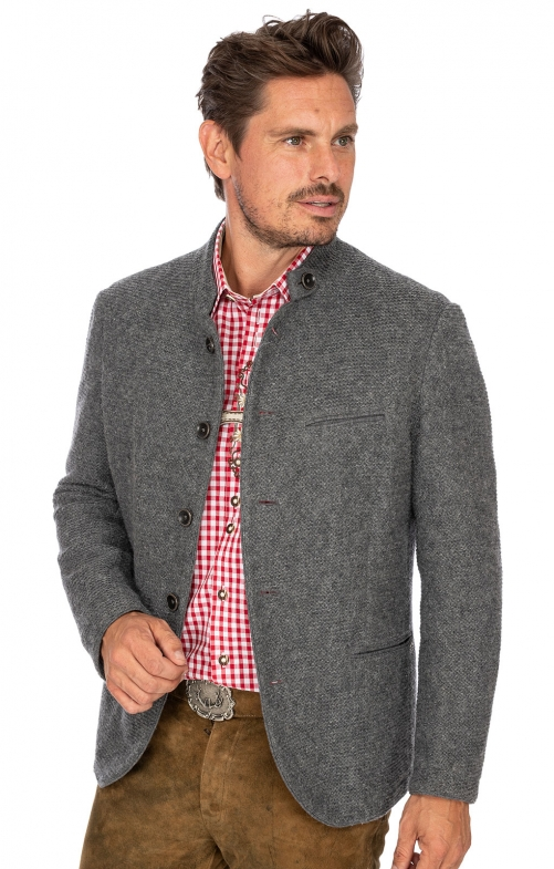 German traditional jacket KARSBACH middle gray
