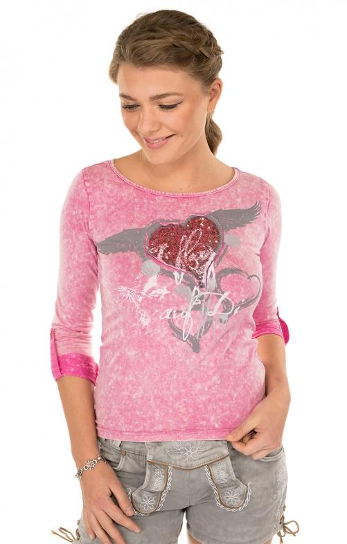 Trachten T-Shirt K30 FLIAGA pink