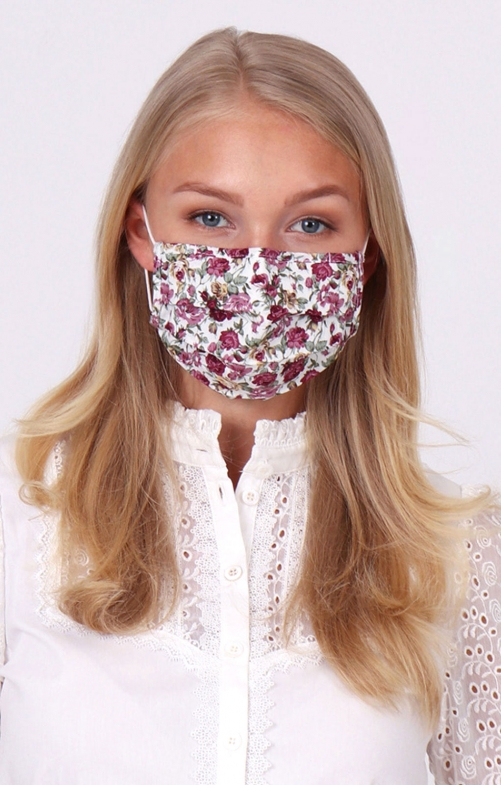 Stoffmaske 3-lagig mit Nasenbügel SUSI A