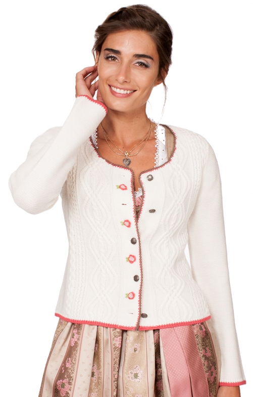 Traditional Cardigan FANCY white