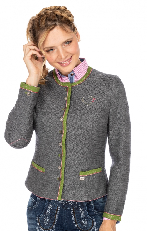 Traditional Jackets MANDEL medium gray green
