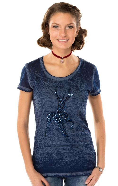 Trachten T-Shirt K20 ELLA blau