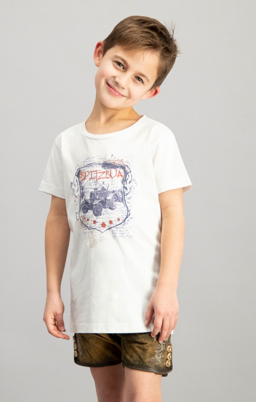 Trachten Kinder T-Shirt BULLDOG Junior weiß