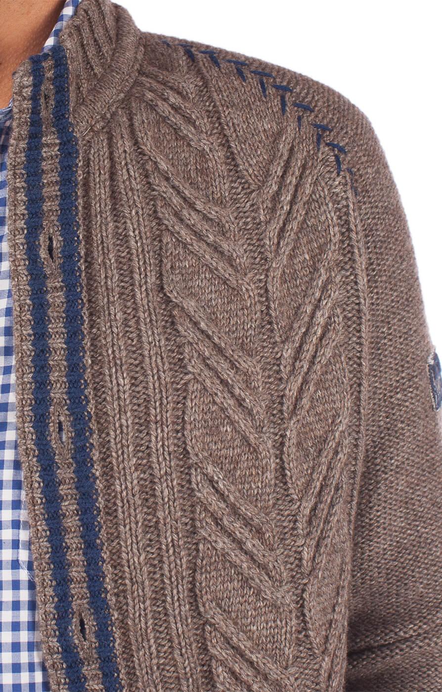 weitere Bilder von Trachten Strickjacke Engadin beige blau