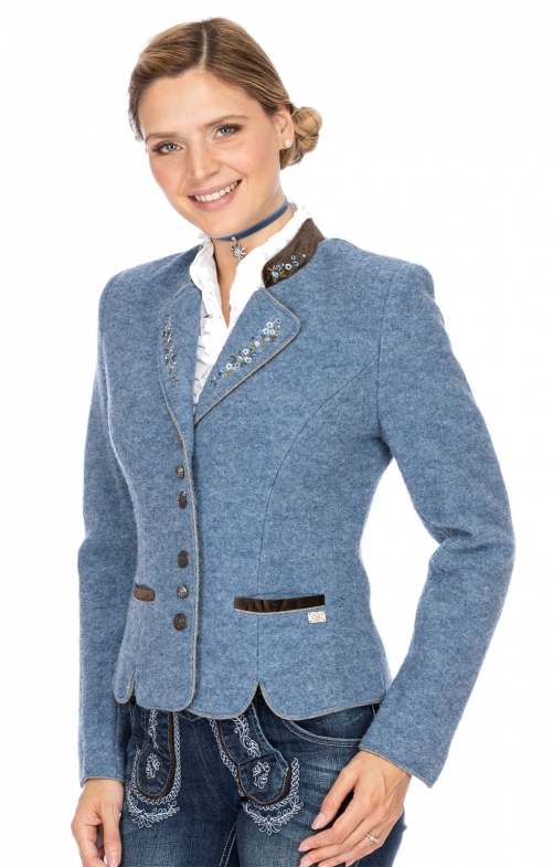 Traditional Jackets MILAN light blue brown