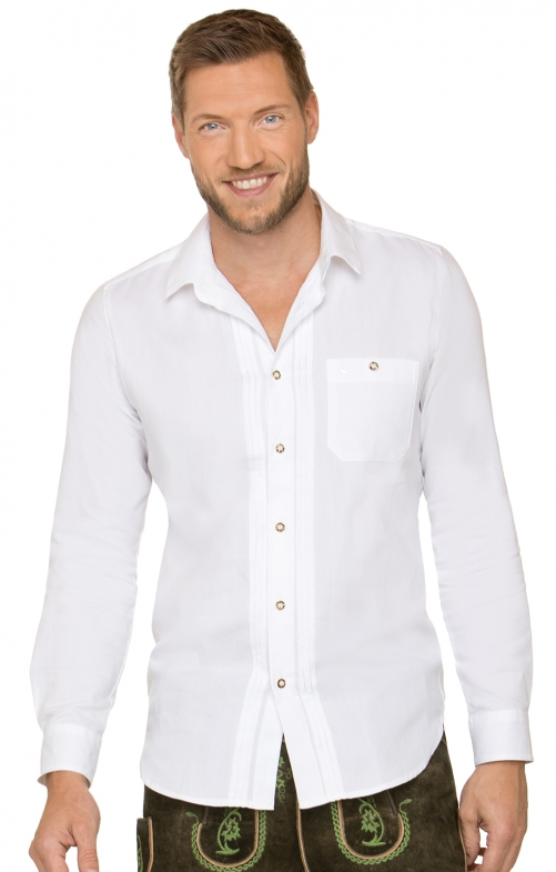 German traditional shirt MIKA2 white
