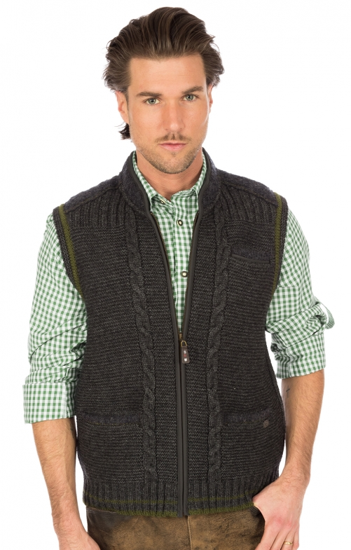 Traditional waistcoat knitted black