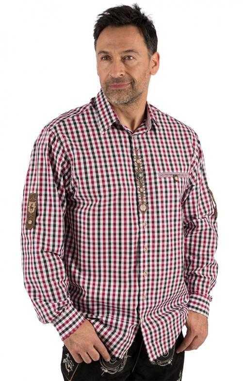 German traditional shirt long sleeve BERNI bordeaux