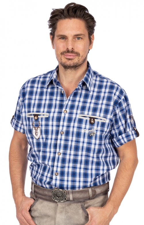 German traditional shirt EDDI blue