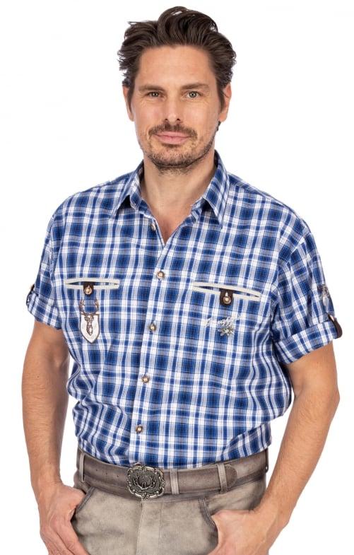 Tiroler overhemd EDDI blauw