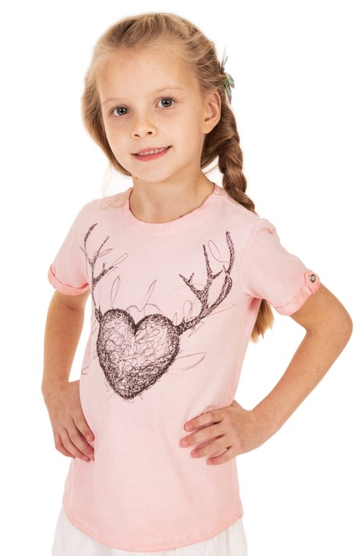 Children traditional shirt D16 - THEA-KIDS apricot