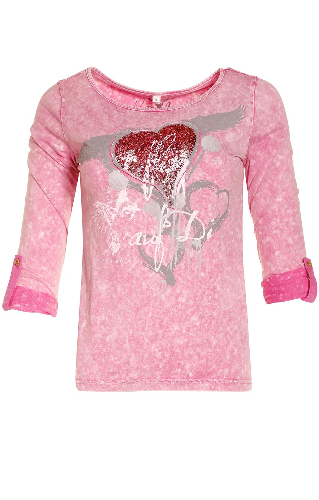 weitere Bilder von Trachten Shirt K30-FLIAGA pink