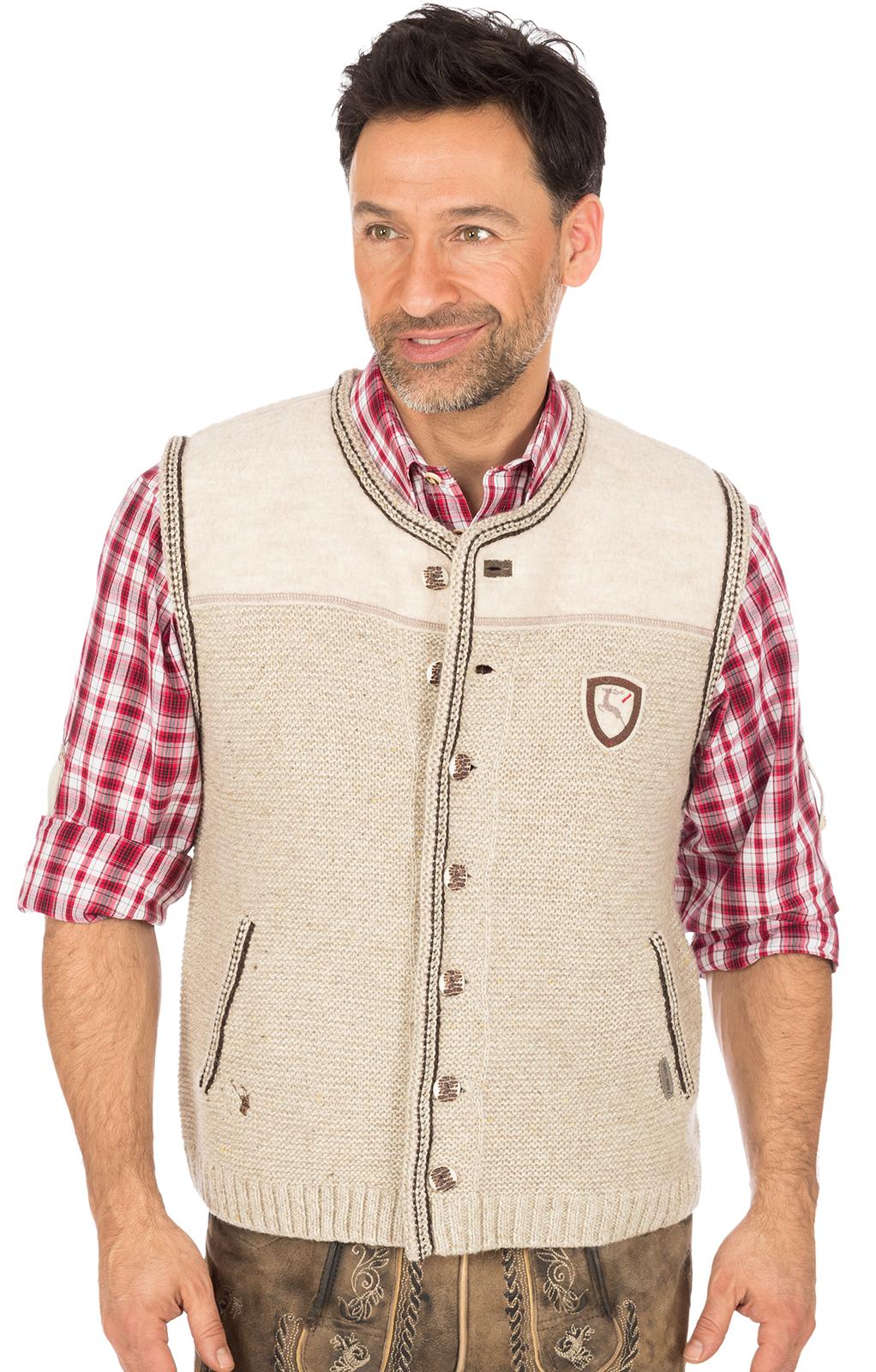 German knitted waistcoat Ramsau SW nature von Spieth & Wensky