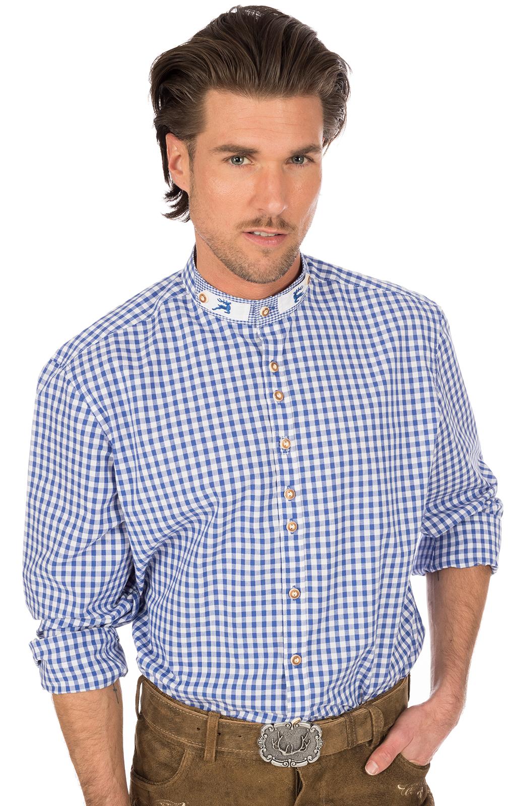 weitere Bilder von German traditional shirt Pfoad blue