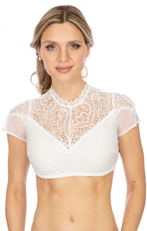 Traditional dirndl blouse ELISA-CAROLA offwhite