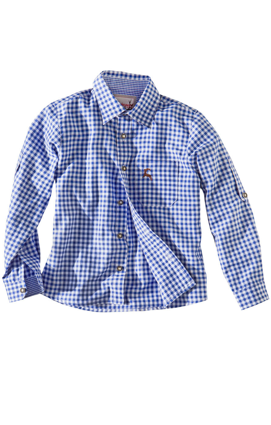 Children traditional shirt Bob blue von Stockerpoint