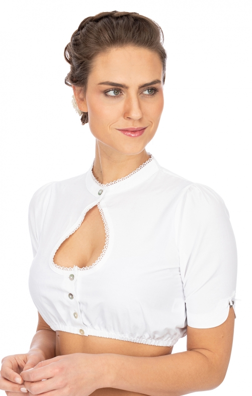 Traditional dirndl blouse B1045 white