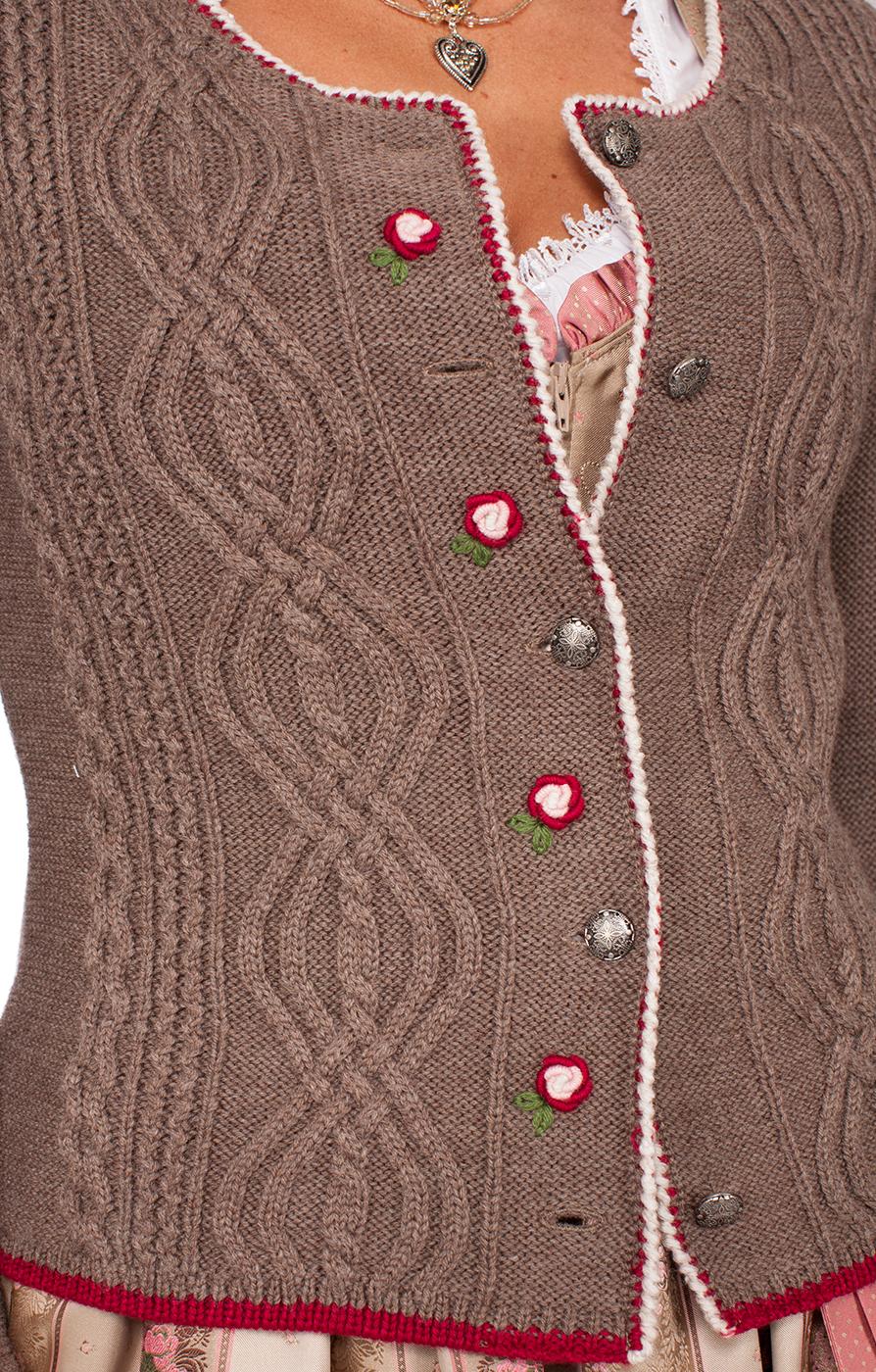weitere Bilder von Giacca in maglia per Dirndl Fancy nuss