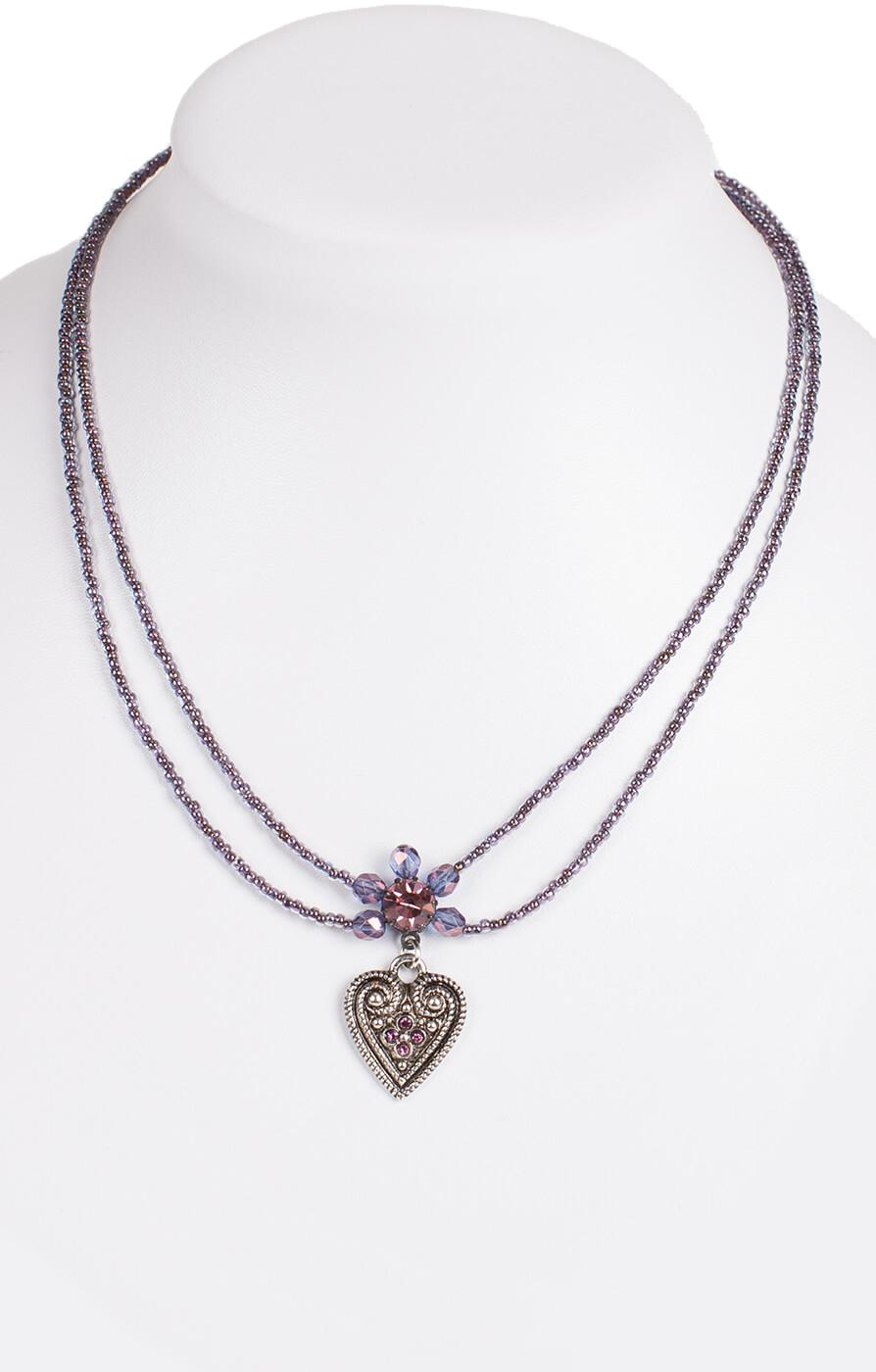 Halskette 2 reihig aus Perlen, 13007 pflaume von Schuhmacher