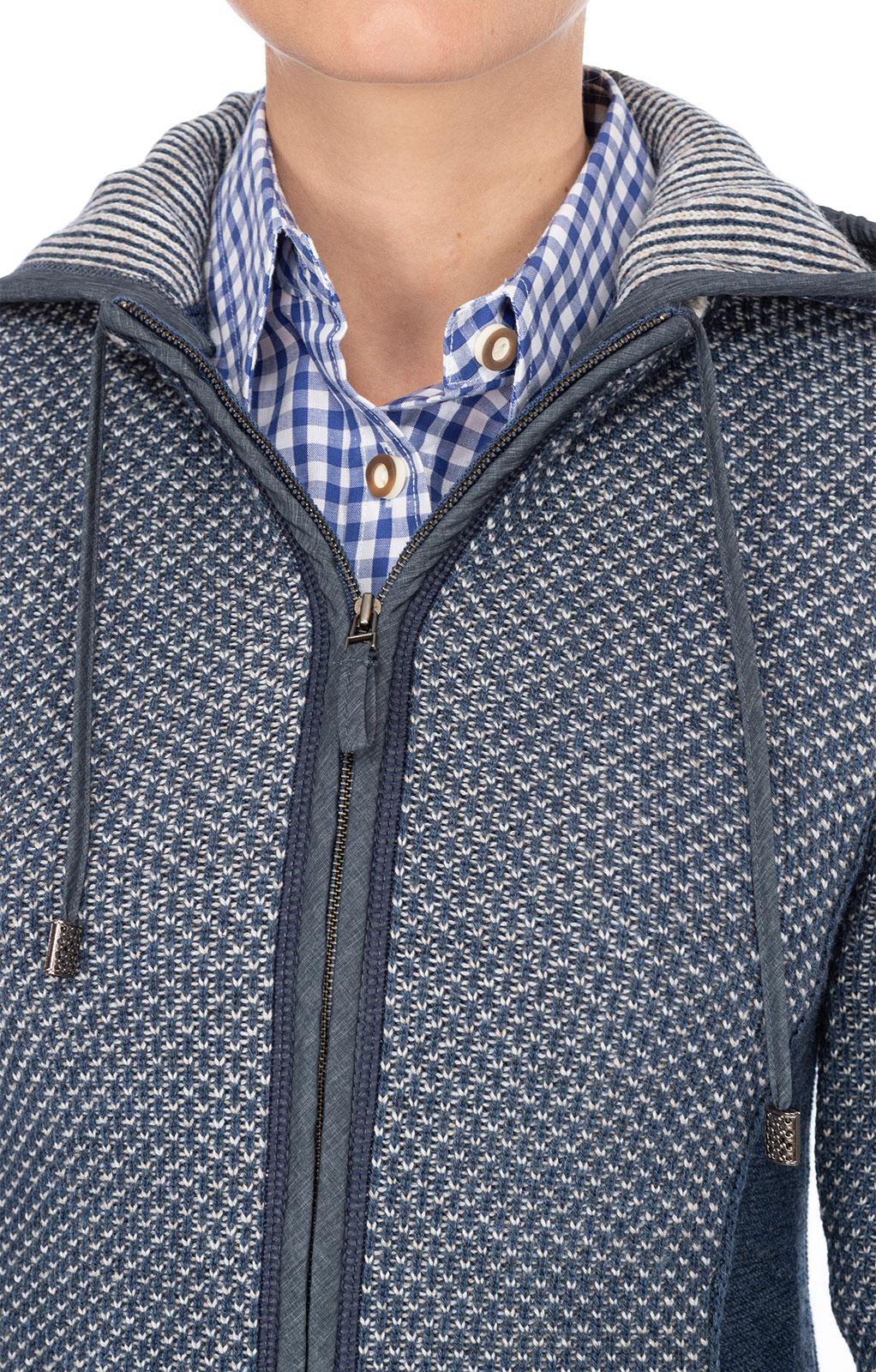 weitere Bilder von Trachten Strickjacke KULMBACH SJ jeansblau