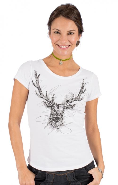 Trachten T-Shirt W33 - TRIXI weiß