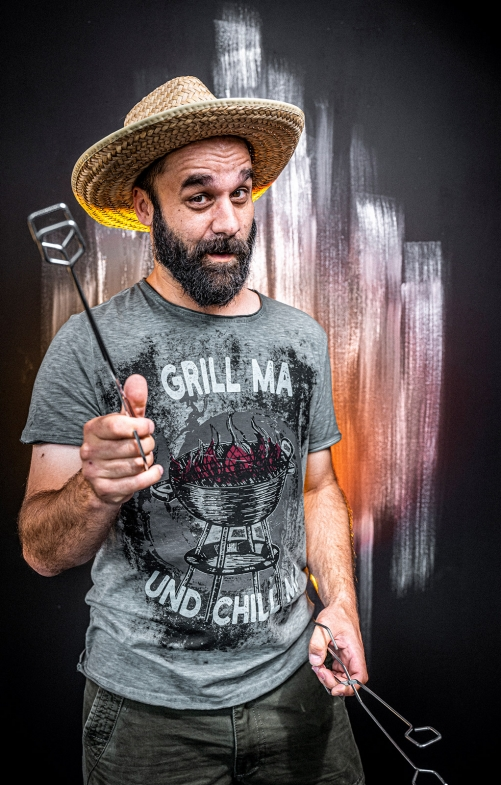 T-Shirt GRILL & CHILL grey