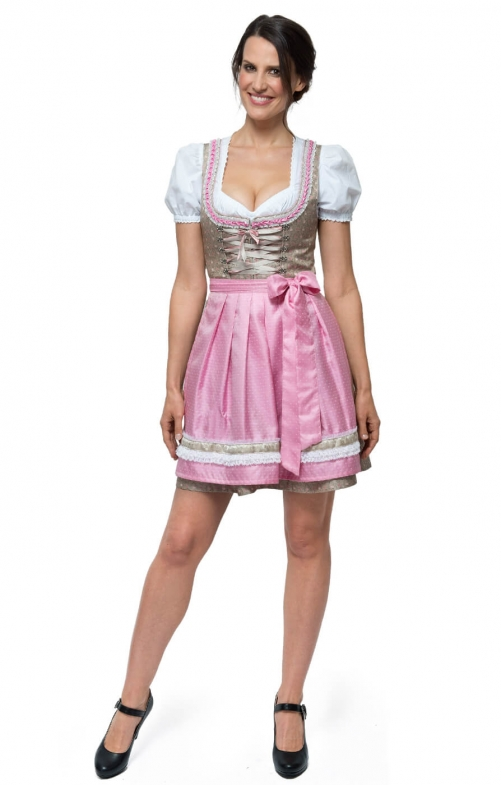 German Mini dirndl 2pcs. MICHELLE rose 55cm