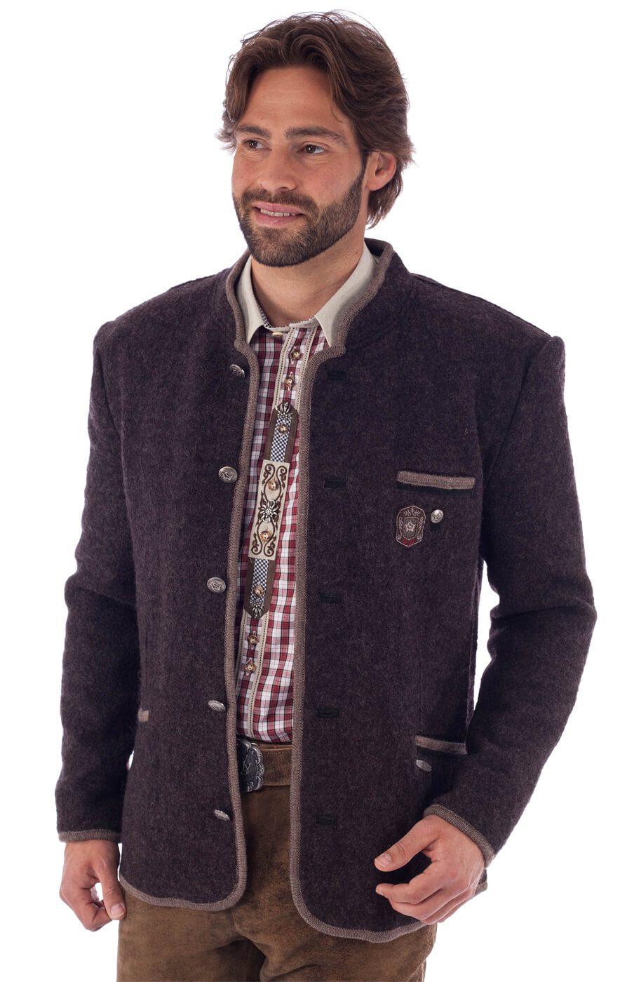 traditional jacket outdoor Birgel WJ dark brown von Spieth & Wensky