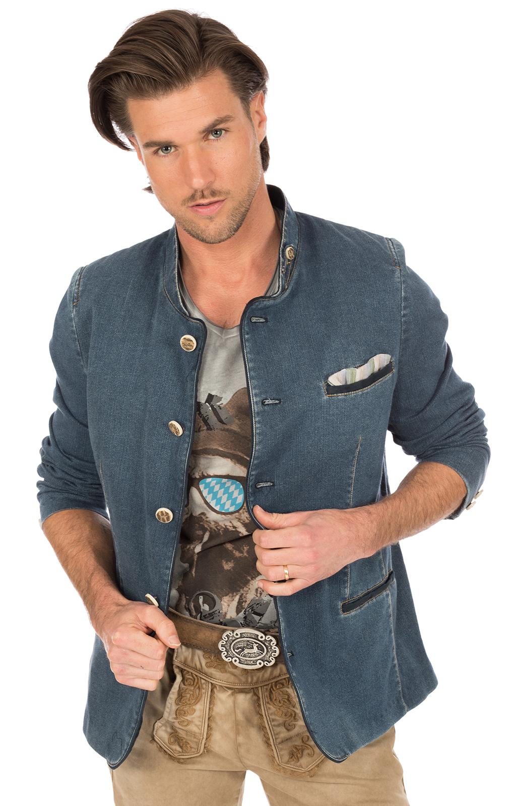 Trachtenjanker HOCHFICHT jeansblau von OS-Trachten