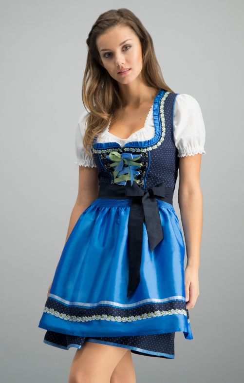 Mini Dirndl 2tlg. 50 cm PATTY navy azur