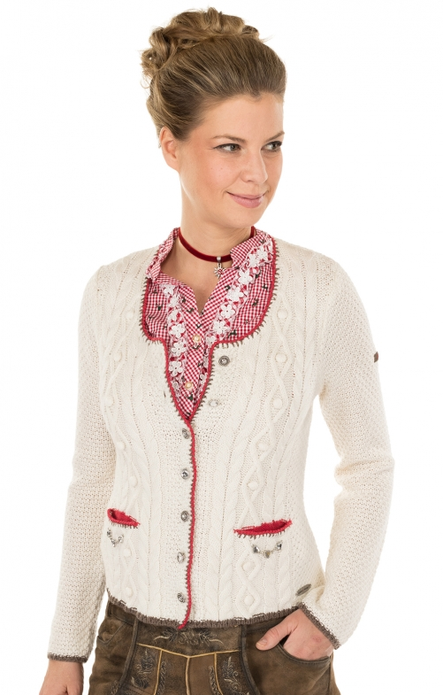 Traditional Cardigan white